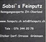 Sabsi`s Feinputz Dein Reinigungsexperte im Zürcher Oberland